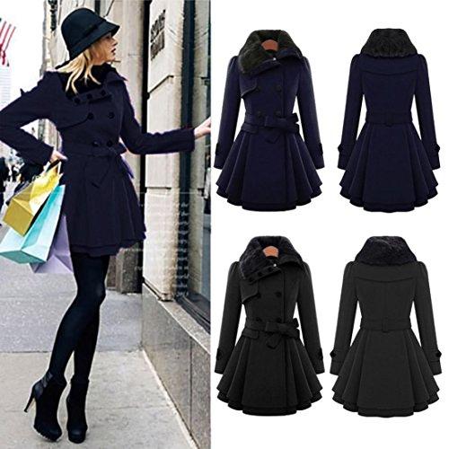 invierno oscuro grueso de mujer largo Azul abrigada Chaqueta Internet de de abrigo Abrigo Abrigo de parka xqOq4zZwR