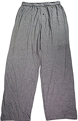 Hanes - Mens Big Solid Knit Sleep Pant, Flannel Heather Grey 39742-XXX-Large-FBA