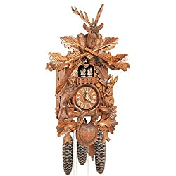 8-Day Deer Head Black Forest House Cuckoo Clock