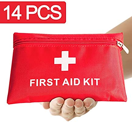 Th-some JAANY Botiquín de Primeros Auxilios de artículos, Survival Tools Mini Box Kit Bolsa Médica para Emergencias para el Coche, Hogar, Camping, ...