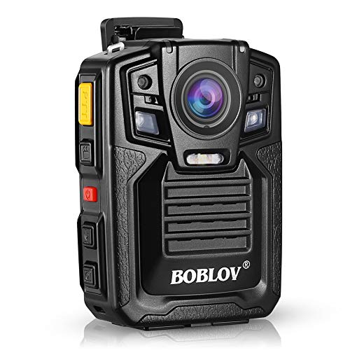 Body Worn Camera with Audio, BOBLOV 1296P Police Body Cameras for Law Enforcement, Security Guard, Waterproof Body Mounted Cam DVR Video IR with Night Vision, 170° Wide Angle 【Built in 32GB】