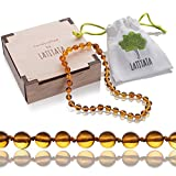 #9: Natural Baltic Amber Teething Necklace For Babies & Toddlers – Rounded Stone Beads – Pain Relief Jewelry – Unmatched Soothing Properties & Safe, Knotted, Unisex Design