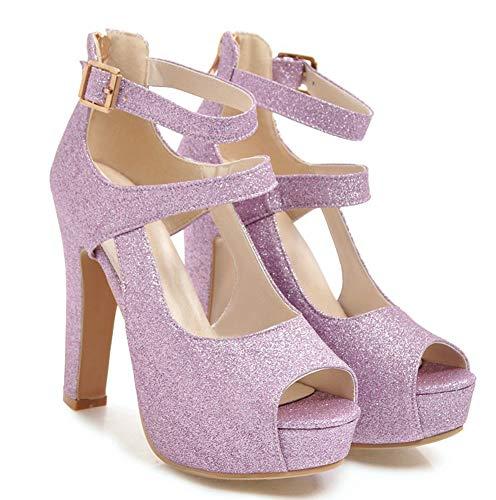 Mariage De Sandales Femme Aisun Rose Ouverte Belle Bouche Chaussures Paillettes wnPxgUqa4