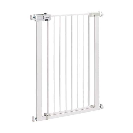 Safety First Easy Close Extra Tall Metal - Barrera de seguridad extra alta a presión para puerta, Blanco