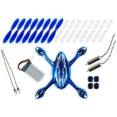 Hubsan X4 H107C Quadcopter Crash Pack - Spacial Royal BLUE (Tekstra Brands Exclusive!!)