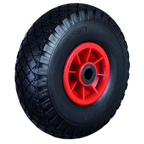 BIL BZWPPU26020D Series WPPU Wheel, Diamond Pattern Puncture-Proof On Polypropylene Rim, 260 mm Diameter, 85 mm Tread, 75 mm Hub, 20 mm Bore, 150 kg Load, Black BIL Group Ltd