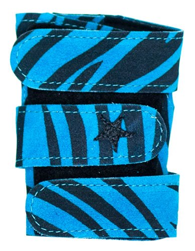 Power Up Gymnastics Wrist Supports - Animal Prints, Turquoise Zebra, M