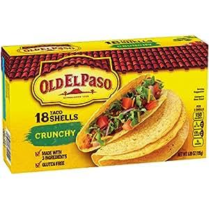 Amazon.com : Old El Paso Crunchy Taco Shells, Family Pack ...
