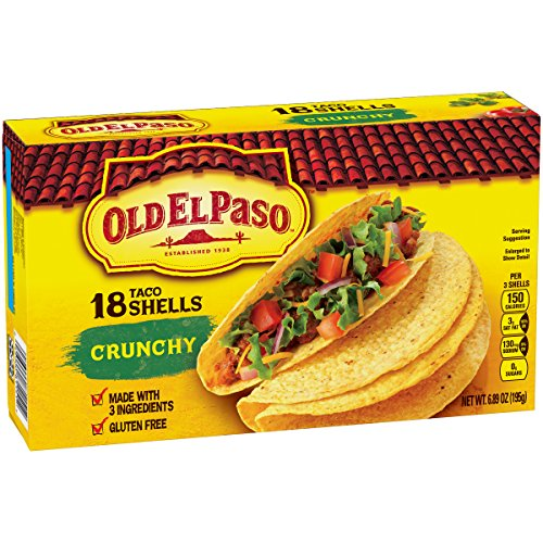 Old El Paso Crunchy Taco Shells, Family Pack, 6.89 oz