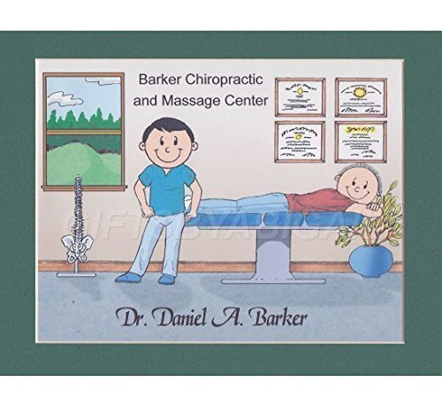 Chiropractic Personalized Gift Custom Cartoon Print 8x10, 9x12 Magnet or Keychain by giftsbyabigail