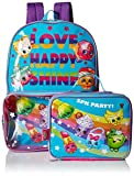 Shopkins Girls' Backpack with Lunch Window Pocket, Multi