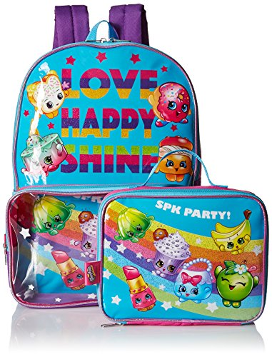 Shopkins Girls' Backpack with Lunch Window Pocket, Multi by Shopkins