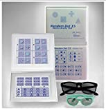Stereo Random Dot Acuity Chart with Symbols and Shapes, Adult & Child Goggles Included