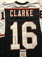 Autographed/Signed Bob Bobby Clarke Philadelphia Flyers Black Hockey Jersey JSA COA