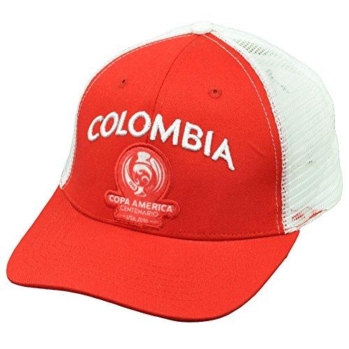 騒ぎ酔う格納コロンビアCopa America Centenario 2016メッシュFutbolサッカー帽子キャップレッドホワイト