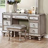 Coaster Home Furnishings 204187 Bling Game Collection Vanity Desk