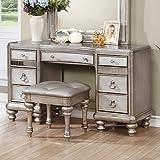 Desk Vanity Coaster Home Furnishings 204187 Bling Game Collection Vanity Desk