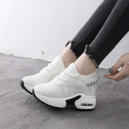 KPHY Damenschuhe/Die Schuhe Sind Eine Rein Sommer Atmungsaktiv Kleine Weiße Luftkissen.Weiße Schuhe Eine Rein Kuchen Dicken Hintern Luftkissen.Weiße Weiße 38- 09bd93