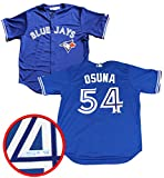 Frameworth Roberto Osuna Signed Jersey Toronto Blue Jays Replica Blue - Autographed MLB Jerseys