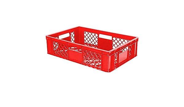 90 pieza Euro bandeja durchbrochen/Panadero Caja, 600 x 400 x 150 mm, de polietileno HD, apto para alimentos, Rojo, palé Ware: Amazon.es: Industria, empresas y ciencia