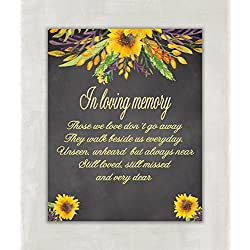 Wedding Table Sign - In Loving Memory Wedding Sign Chalkboard Sign - 8x10 ((UNFRAMED))