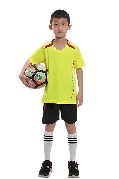 KINDOYO Venta Adultos y Niños Juego de Entrenamiento de Fútbolde Secado  Rápido de Manga Corta Kit 49a60faeda89f