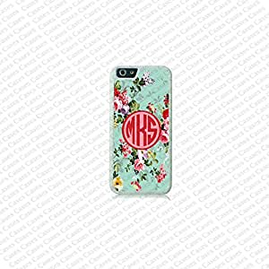 Krezy Case Floral pattern Monogram iPhone 6 Case, Heavy Duty iPhone 6 Case, Custom iPhone 6 Cases, Cute monogram iPhone 6 Case
