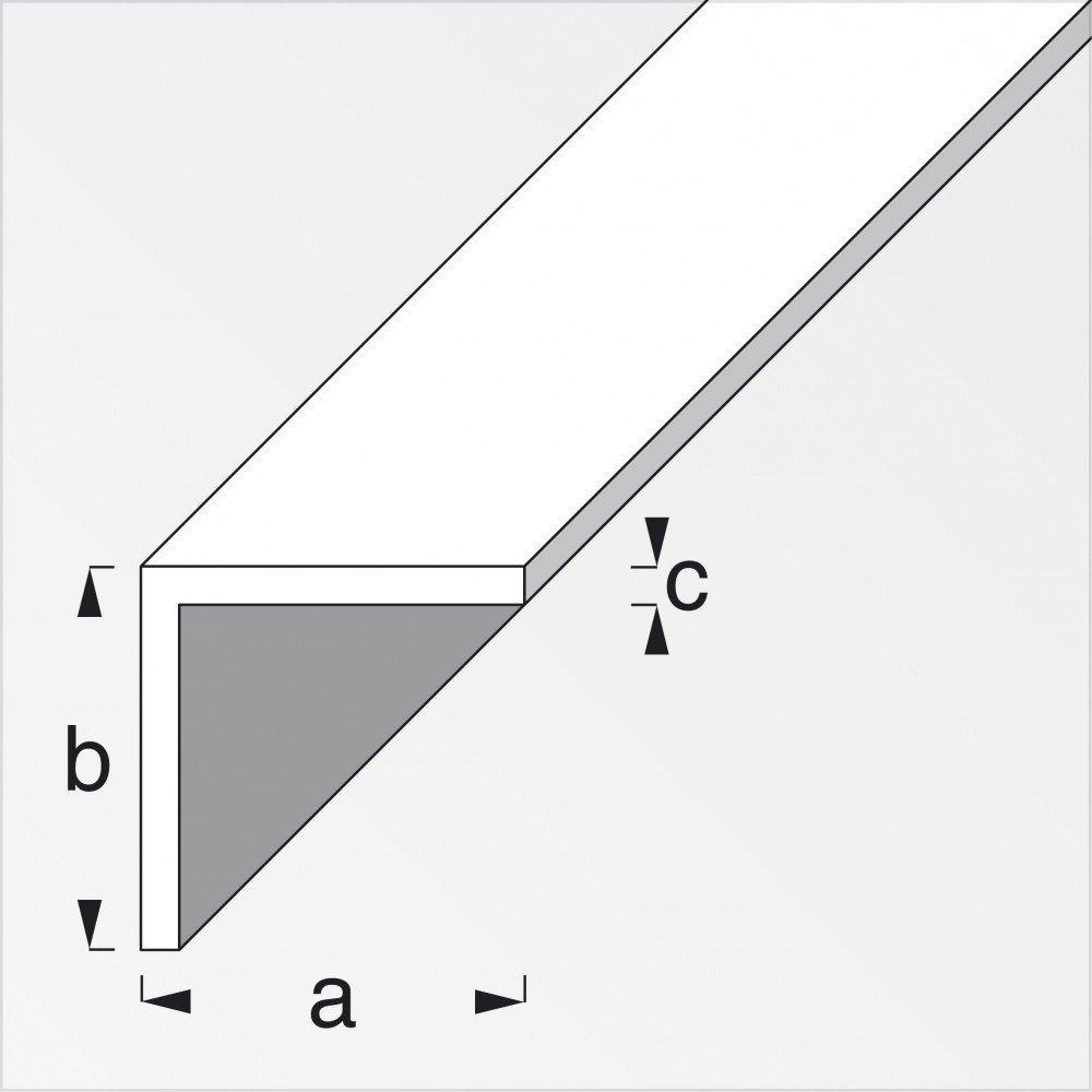 Aluminium//eloxiertes Silber 200/cm /1/x 1/cm in verschiedenen Varianten erh/ältlich/ Gleichschenkliges Winkelprofil