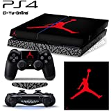 [PS4] ShoeBox #4 Air Jordan 3 Retro Shoe Box Whole Body VINYL SKIN STICKER DECAL COVER for PS4 Playstation 4 System Console and Controllers