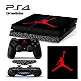 Ci-Yu-Online VINYL SKIN [PS4] ShoeBox #4 Air Jordan 3 Retro Shoe Box Light Bar Whole Body VINYL SKIN STICKER DECAL COVER for PS4 Playstation 4 System Console and Controllers
