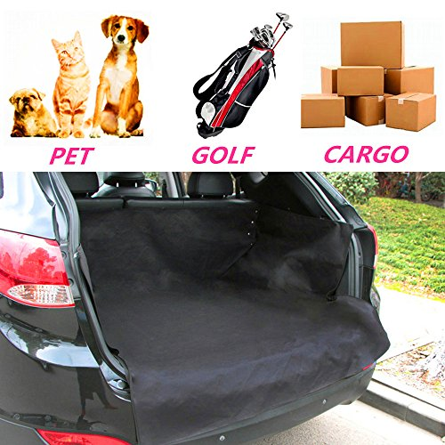 (Car Trunk Dog Pet Pad Kennel Internal Pad Back Seat Protect Cover Liner for Dog Pet Cargo Cover Liner Mat Cushion Bed Quilted Oxford Fabric Waterproof Non-slip Durable Collapsible fits Most Vehicle)