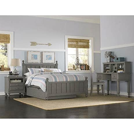 NE Kids Lake House Kennedy Full Panel Bed With Trundle In Stone
