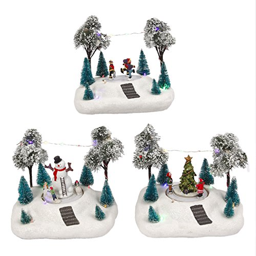 Animated Christmas Holiday Winter Town Set Snow Village Scenes Light Up Decor (Scene Christmas Animated)