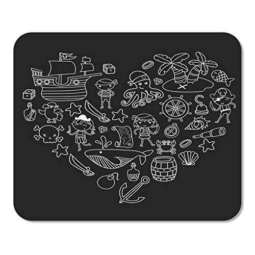 Suike Mousepad Computer Notepad Office Children Playing Pirates Boys and Girls Kindergarten School Preschool Halloween Home School Game Player Computer Worker 9.5x7.9 Inch -