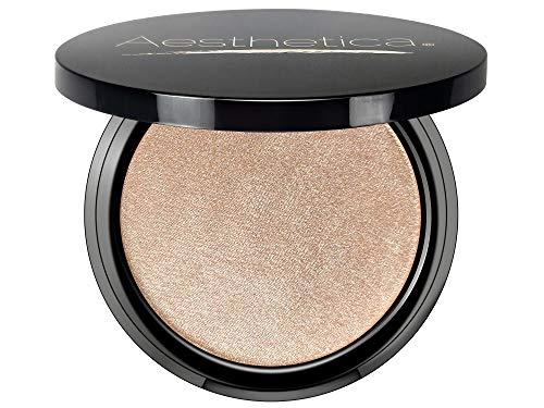 Aesthetica Starlite Highlighter - Metallic Shimmer Highlighting Makeup Powder - Venus (Pearlescent White)