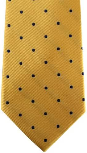 Gold/Navy Polka Dot Tie by David Van Hagen