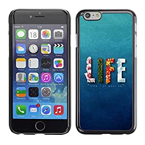 Paccase / SLIM PC / Aliminium Casa Carcasa Funda Case Cover - LIFE design Message - Apple Iphone 6