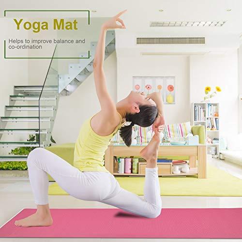 Newgreenca - Esterilla para yoga (PVC, 6 mm de grosor, para ...