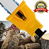 Chainsaw Teeth Sharpener Portable Proprietary Bar-Mount Chainsaw Chain Sharpening Kit Fast-Sharpening Stone Grinder Tools(Fit With 2 Holes Bar Chainsaw)