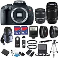 Canon EOS Rebel T5i 18 MP CMOS Digital SLR Full HD 1080 Video Body with EF-S 18-55mm IS STM Lens & EF-S 55-250mm IS II Lens with 32GB Deluxe Accessory Bundle Explained Review Image