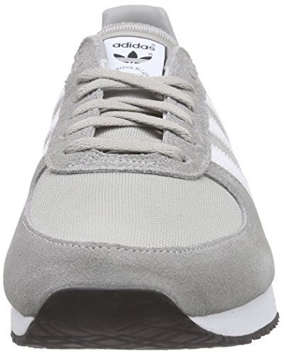 adidas Men's Zx Racer Low-Top Sneakers, Multicoloured Gris / Blanco / Black (Grpumg / Ftwbla / Negbas)