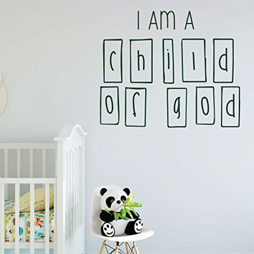 LDS Wall Decal - I Am A Child Of God - Nursery Room Vinyl Decoration for Home, Bedroom or Living Room Decor