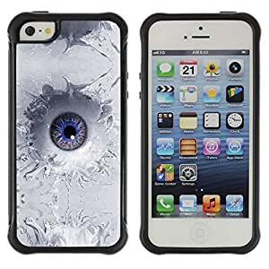 Planetar® ( Abstract Eye Splash ) Apple iPhone 5 / 5S Hybrid Heavy Duty Shockproof TPU Fundas Cover Cubre Case