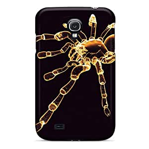 Rugged Skin Case Cover For Galaxy S4- Eco-friendly Packaging(spider)