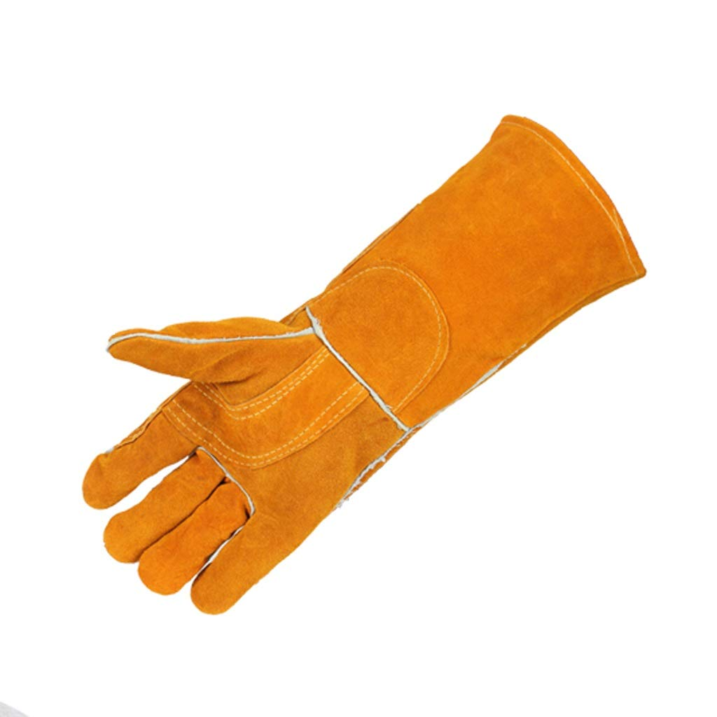 BLRYP Gloves Gardening Gloves for Men and Women,,Soft Cowhide High Temperature Welding Gloves Double Thick Anti-scalding Wear Welder Welding Welding Work Gloves Low Temperature Work (Color : C)
