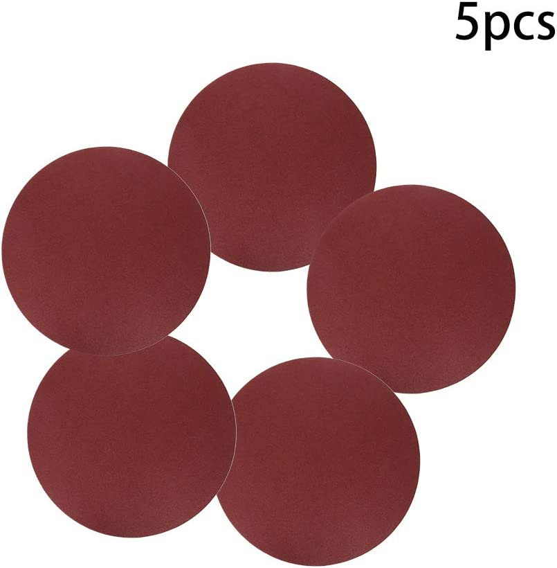 Utoolmart Disc Sandpaper With Adhesive Back 10inch 250mm Aluminium Oxide 60 Grit Sanding Disc Sander Paper For Metalworking Tools 5pcs