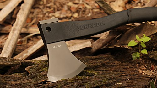 Schrade SCAXE2L 15.7in Large Survival Axe with 4.2in Stainless Steel Blade and Glass Fiber PA and TPR Rubber Handle for Outdoor Survival Camping and Everyday Tasks by Schrade (Image #4)