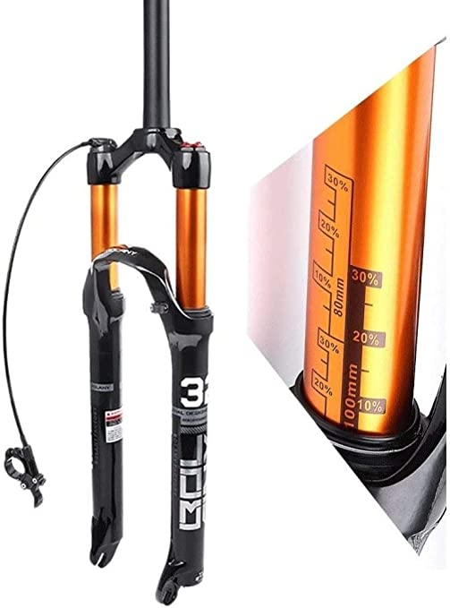 LIMQ Horquilla De Suspensión para Bicicleta 26 27.5 Horquilla Neumática MTB De 29 Pulgadas Recta Disco De 1-1/8
