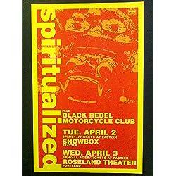 Spiritualized Black Rebel Motorcycle Club Rare Original Tiki Concert Tour Poster
