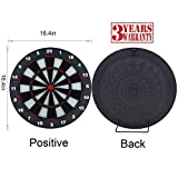 Portzon Dart Board, 16.4 Inch with 6 Rubber